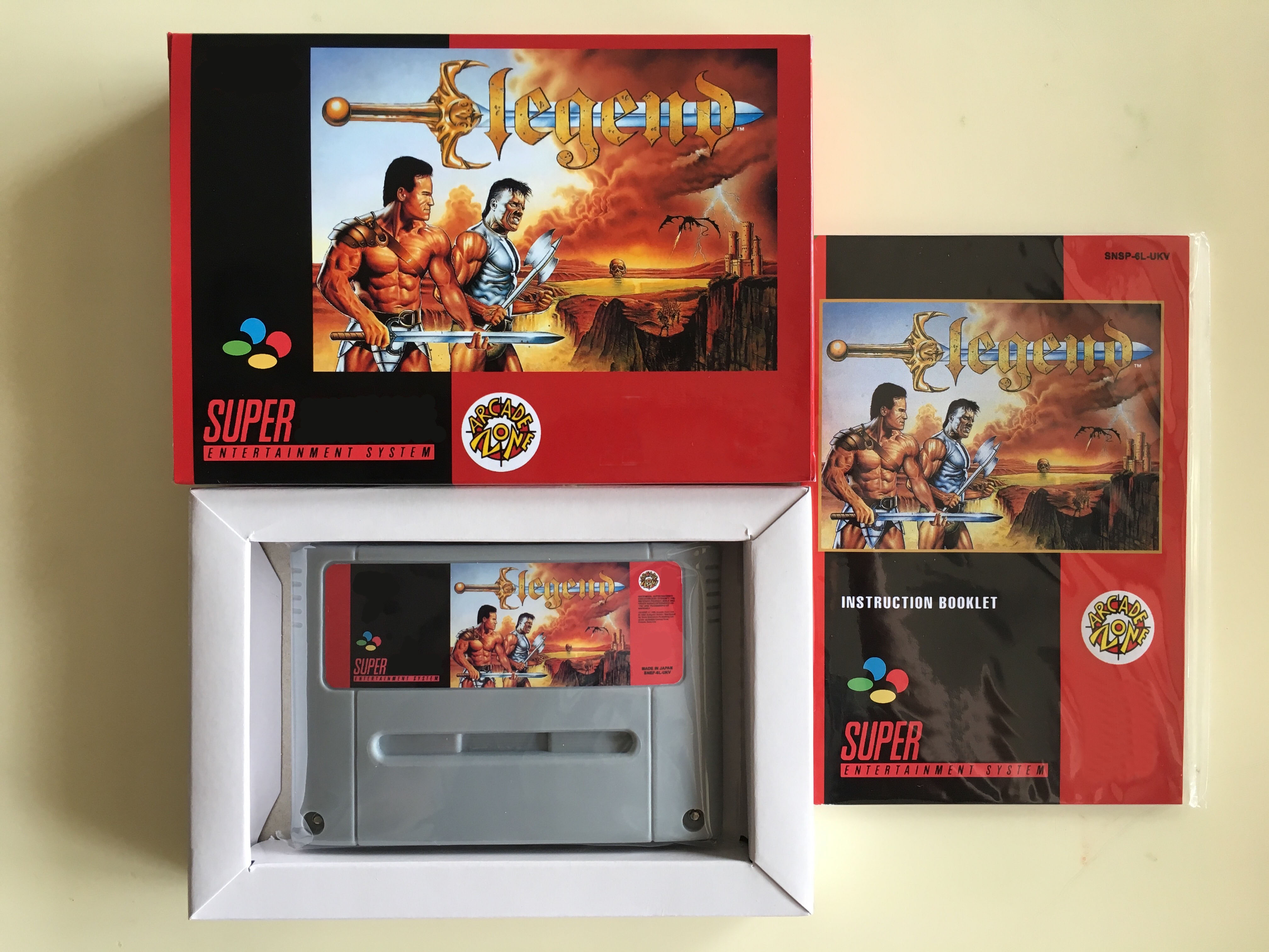 16Bit Games Legend PAL Version Box Manual Cartridge