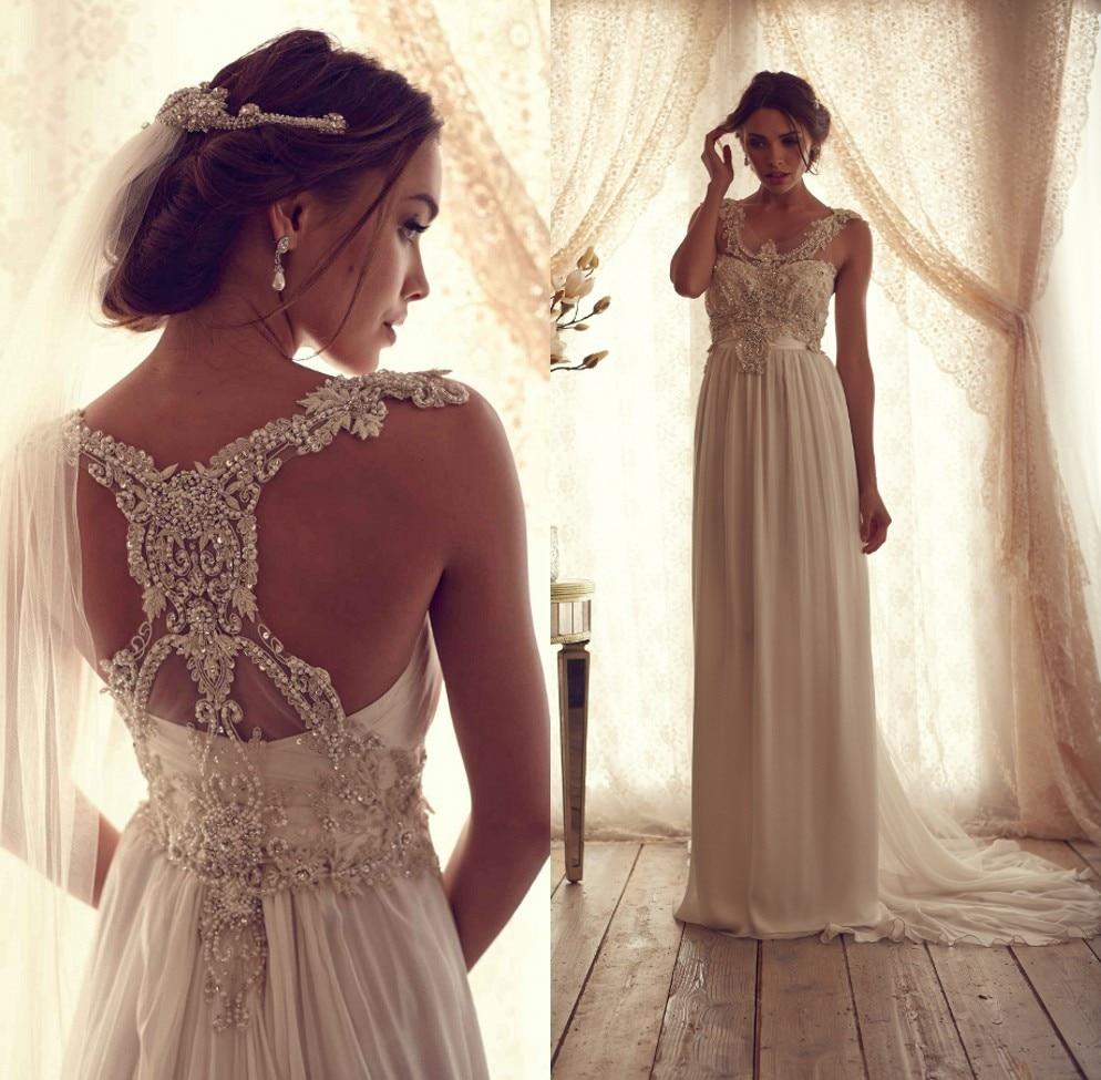 Anna Campbell Wedding Gowns: 2014 Backless Wedding Dress Vestido De Noiva Sexy Anna