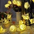20LED Luz Da Corda de Fadas Rosa Guirlanda Lâmpada Dia Dos Namorados Festa de Casamento Decoração Do Feriado de Iluminação Artificial Flores luz Da Bateria