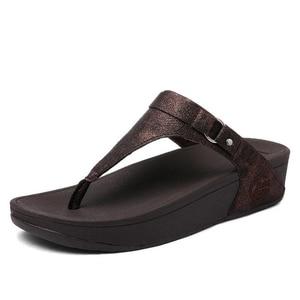 Image 3 - BEYARNE large sizes Heels peep Toe Summer womens Shoes Woman Sandals platform slippers Leisure resort beach flip flops E687
