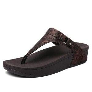 Image 3 - BEYARNE גדול גדלים עקבים פיפ הבוהן קיץ נעלי נשים אישה סנדלי פלטפורמת כפכפים פנאי נופש חוף כפכפים E687