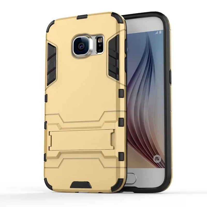 Coque Hard Silm Hybrid Duty Armor Shield Case For Samsung Galaxy S7 S7edge S7 edge TPU + PC Back Cover Protective With Stand