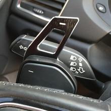 Auto Lenkrad DSG Paddle Verlängerung Schalthebel Shift Aufkleber Dekoration Fit Für Seat Alhambra/Ateca/Leon FR/ leon/Leon 4 5F