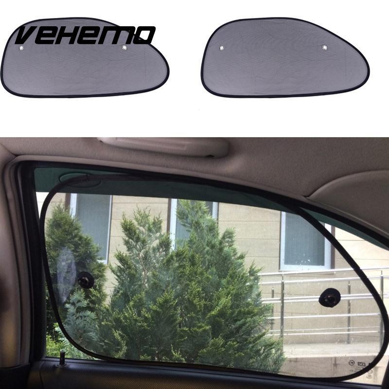 Vehemo 2 шт. 65*38 см окна автомобиля с тентом Шторы сбоку Защита от солнца на заднее стекло авто сетки крышка автомобиля козырек щит автомобильны...
