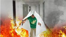 Aile yangın battaniyesi, 1.2 m * 1.8 söndürme bezi, koruma aracı.
