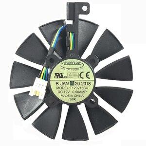 Image 5 - חדש 87 MM Everflow T129215SU DC 12 V 0.5AMP 4Pin 4 חוט קירור מאוורר עבור ASUS GTX980Ti R9 390X390 GTX1070 כרטיס מסך מאוורר