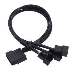 Adaptador de 27cm molex para 3 vias, 3 pinos/4 pinos para computador caso ventoinha/ventoinha cpu/mineração ventiladores de refrigeração preto