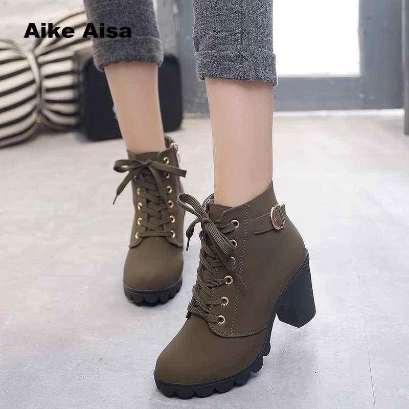 Plus ขนาด 35-43 ฤดูหนาวรองเท้าลำลองผู้หญิงรองเท้าบูทรองเท้าส้นสูงกันน้ำ Snow Martin รองเท้า Botas สิทธิบัตร botas Muje