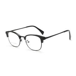 Image 1 - Browlineフルリム光学眼鏡フレーム用男性と女性黒とヒョウ眼鏡