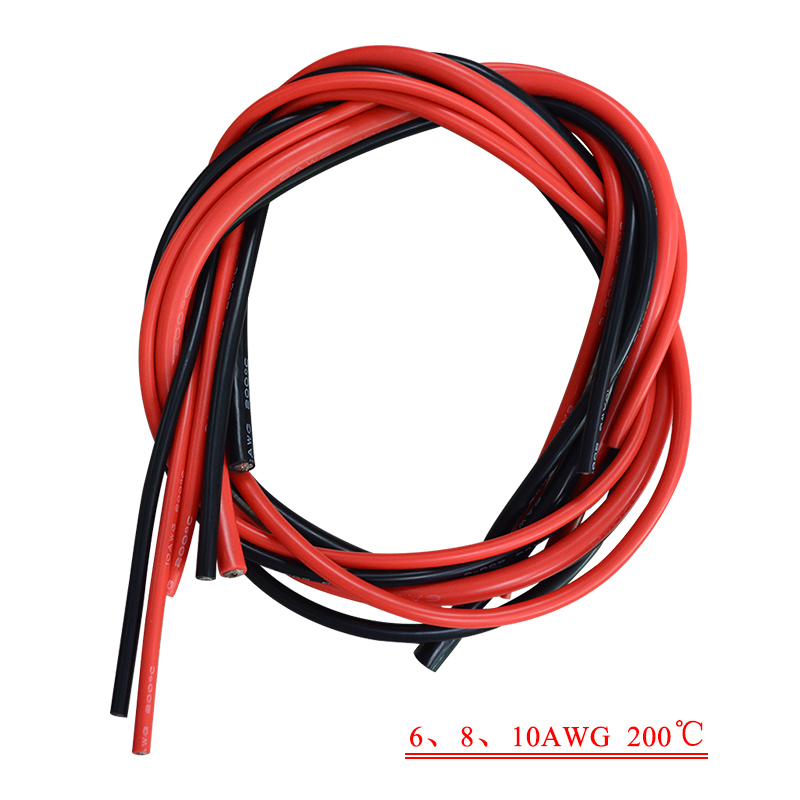 2x 3M 6 7 8 10 12 14 16 18 20 22 24 26 Gauge AWG Silicone Rubber ...