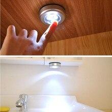 Беспроводной светильник с сенсорным управлением, светодиодный светильник, потолочный светильник, шкафы, Ночной светильник, светодиодная энергосберегающая автомобильная лампа
