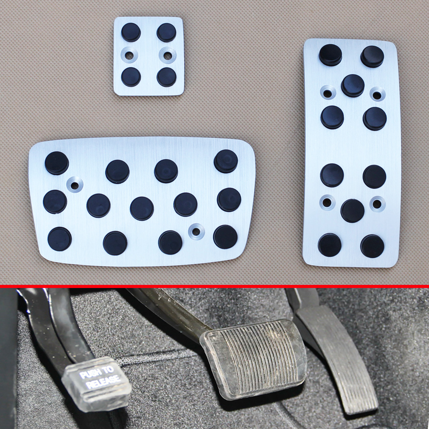AT Gas Pad For Benz W215 C215 1999-2006 Trim Accelerator Fule Brake Pedal Cover