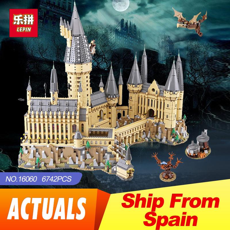 2018 Lepin 16060 Harry Magia Potter Hogwarts Castello Scuola Compatibile 71043 Blocchi di Costruzione Mattoni Educativi Giocattolo Modello