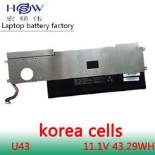 HSW New  Battery 11.1V for Hasee U43 U45 UI41B X300-3S1P-3440 UI41R UI43 UI45 UI47  HXU4 SSBS40 SSBS39