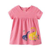 цена на Girls Summer Dress Girls Princess Dresses Kids Dinosaur Princess Dress Children Costumes for Kids Cotton Clothes