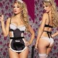 SZ716 estilo verão lace maid sexy lingerie hot erotic lingerie babydoll set lingerie sexy lenceria sexy baby doll