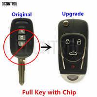 QCONTROL ulepszony kluczyk samochodowy z pilotem DIY dla chevroleta/HOLDEN/OPEL/VAUXHALL Captiva Antara 2006 2007 2008 2009 2010