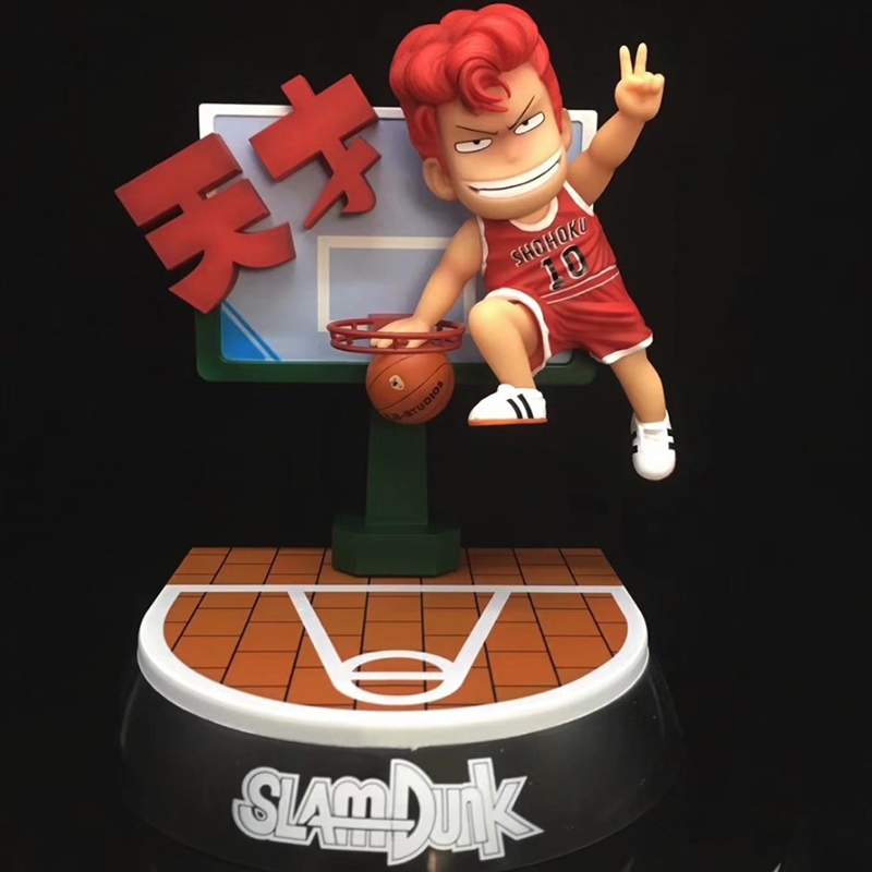 Anime SLAM DUNK Hanamichi Sakuragi Figure Dunk Scenes Ver GK Collection Model Toy 22 cm 25cm play basketball rukawa kaede nba toy slam dunk hanamichi sakuragi animation pvc action figure collection model toys