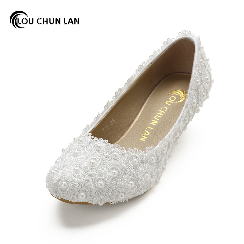 white wedding shoes white flower lace wedding shoes pearl shoes bridal shoes 1368