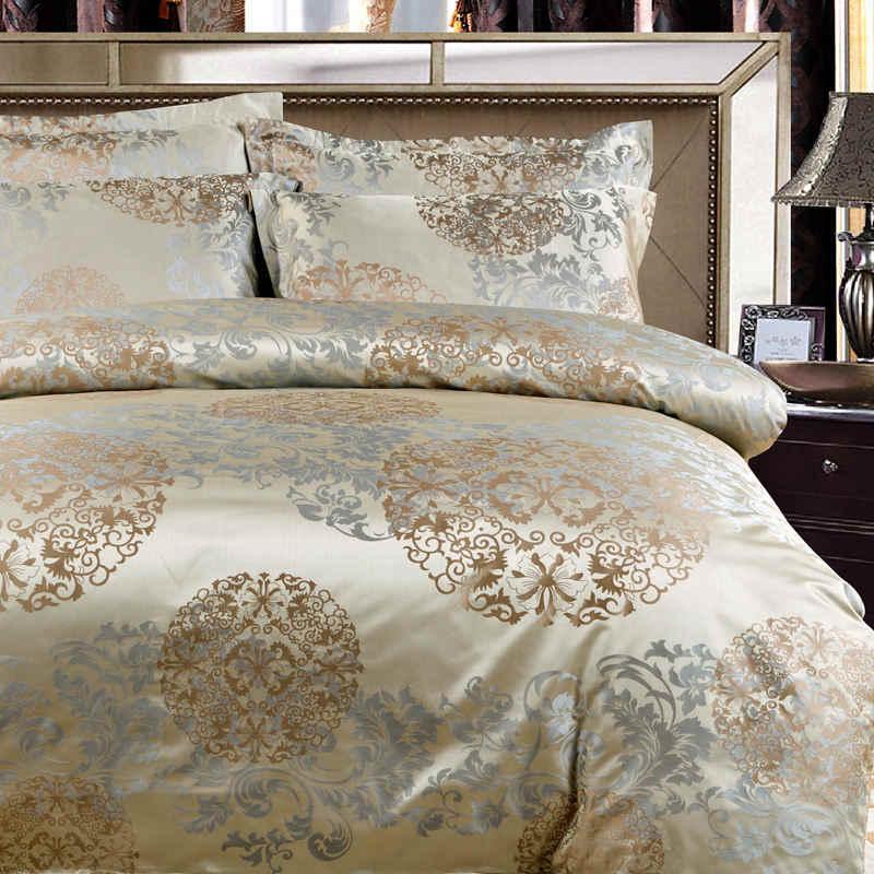 XIPA Conjuntos de Cama de Luxo Jacquard Queen/King Size Roupa de Cama Capa de Edredão Set roupas de Cama de casamento Colcha Coverpillowcase