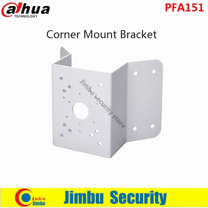 ФОТО Dahua Corner Mount Bracket PFA151 SECC Material Corner Mount Bracket Neat & Integrated design CCTV System Accessories