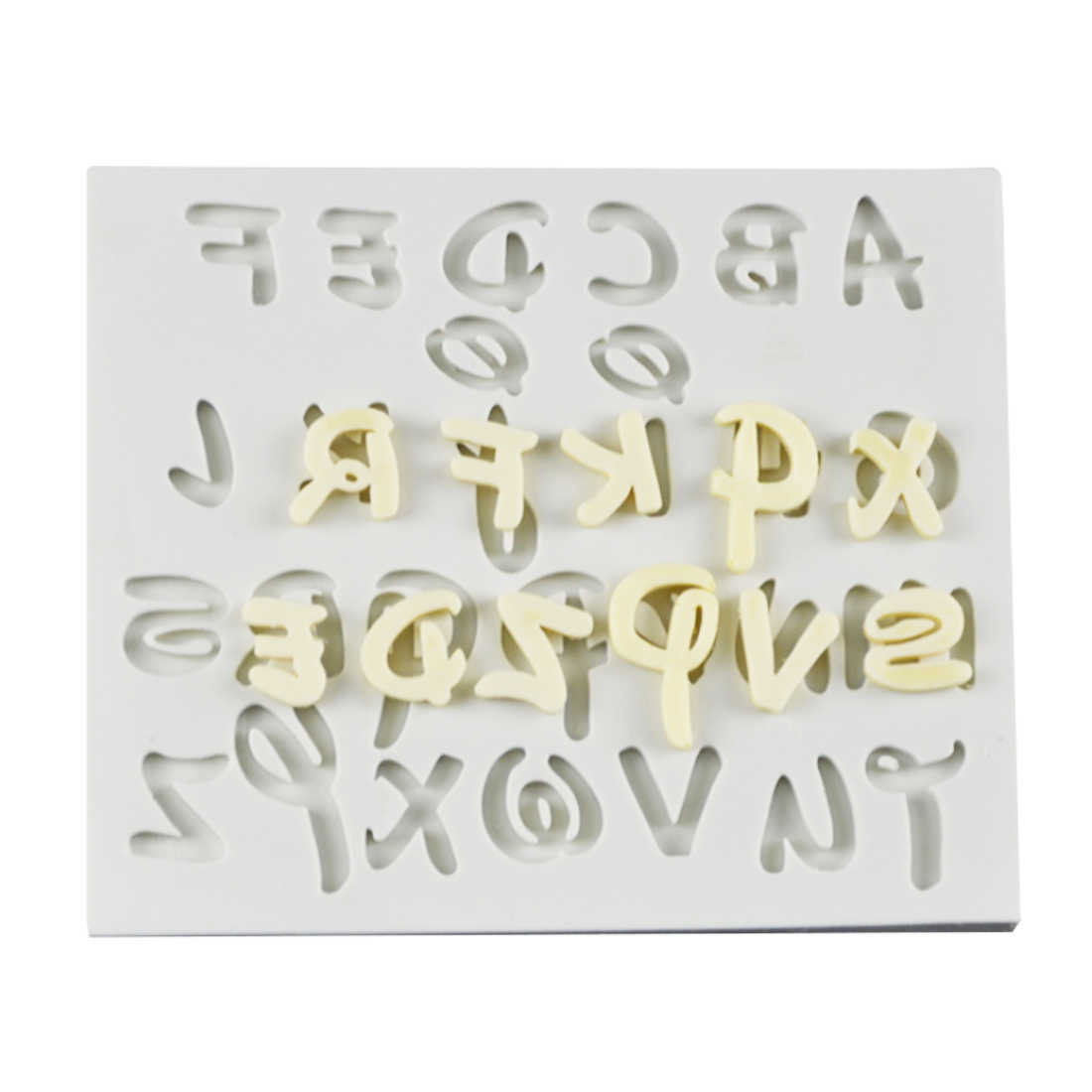 New Soap Mould 1PC Letter Alphabet Number Shape Fondant Molds  Kitchen Cake Decorating Tools Chocolate Soap Mold Cake Stencils
