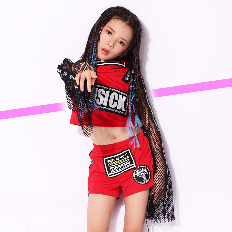 New Kids Children HipHop Dance Costume Stage Jazz Dance Costumes Suit Girls Boys Crop Top With Hooded And Pants