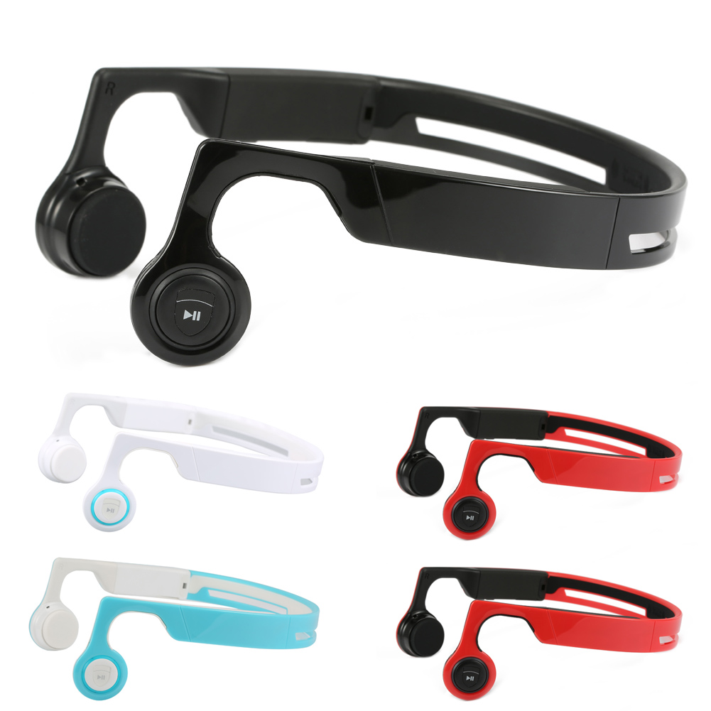 Bluetooth V4.2 Earphones Wireless Stereo Headsets Cheek Bone Conduction Sweatproof Sports Headphones for iPhone Samsung eals @JH наушники samsung earphones advanced anc серебристые