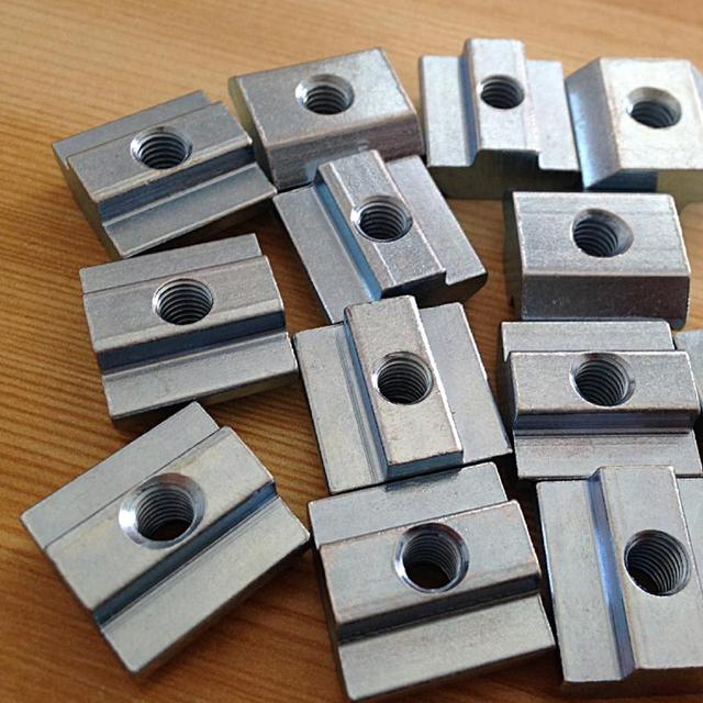 50pcs/lot M5 T Sliding Nut Zin-Plated Carbon Steel T Sliding Nut for 2020 Aluminum Profile Zin-plated Surface Nuts Hardware