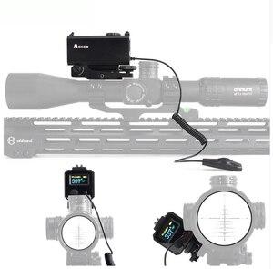 Askco 5-700 M Mini telémetro láser táctico caza Rifle mira con Picatinny tejedor riel montaje Color OLED pantalla
