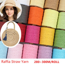 1 Roll Raffia Straw Yarn Crochet For DIY Knitting Summer Hat Handbags Cushions Baskets Material Hand