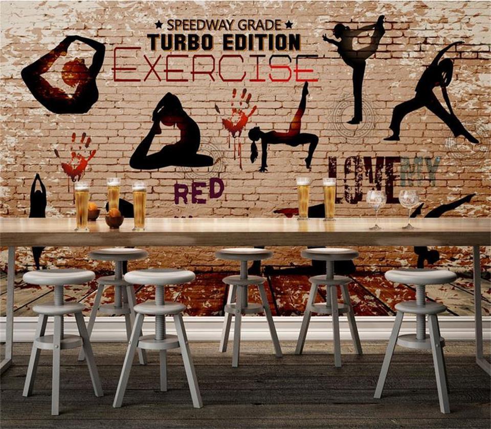 US $14 44 OFF 3d Wallpaper 3d Foto Wallpaper Kustom Mural Ruang Gym Yoga Gerak Latar Belakang 3d Lukisan Sofa KTV Wallpaper Untuk Dinding
