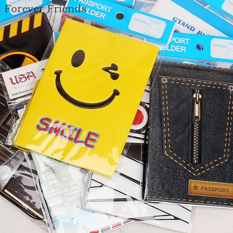 Hot-selling PU&PVC passport  Cover ,business  Card -ID  Holders for  travel ,Free shipping  with 24 kinds of Pattern for choose love and clouds two kinds of styles passport cover passport holder luggage tag silicone strap three pieces