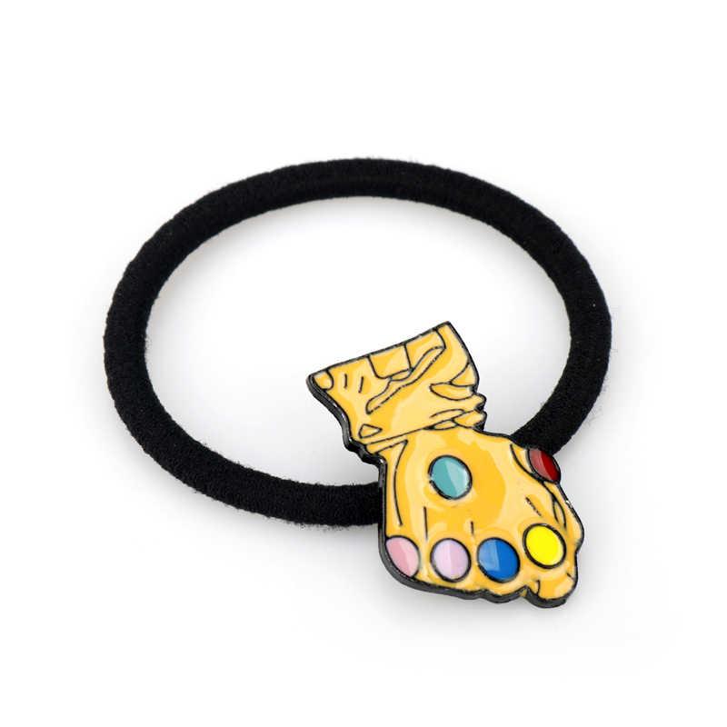 Akcesoria do włosów dla kobiet gra o tron Marvel Thanos opaski kucyk Holder dziewczyny Scrunchies elastyczne opaski do włosów lina gumowa