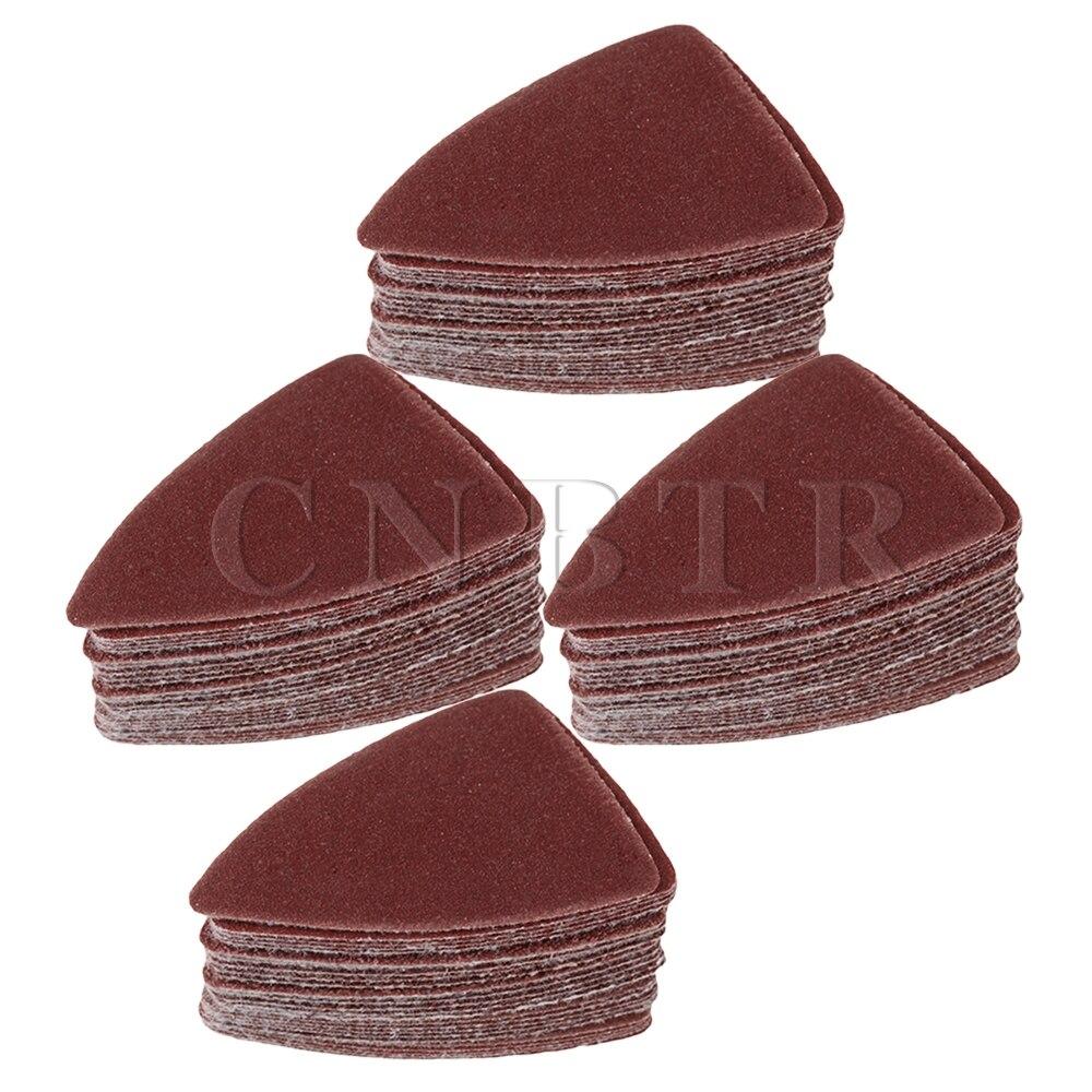 CNBTR 50mm Dia Finger Sandpaper Sheet With 60/80/120/180/240 # Pack Of 100