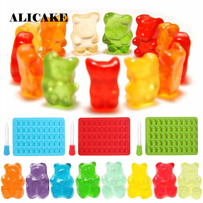Gumy Bear Silicone Mold Cooking Color Jelly Sugar Chocolate