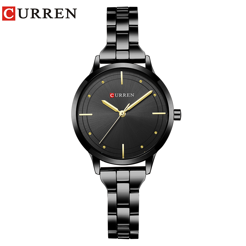 CURREN Women Watches Hot Sale Fashion Ladies Wrist Watch Stainless Steel Quartz-watch Women Dress Clock Montre Femme Reloj Mujer