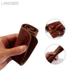 Image 3 - Wangcangli marka prawdziwa skóra cielęca telefon case krokodyl tekstury odwróć wielofunkcyjny telefon torba dla Huawei P9 Plus ręczna