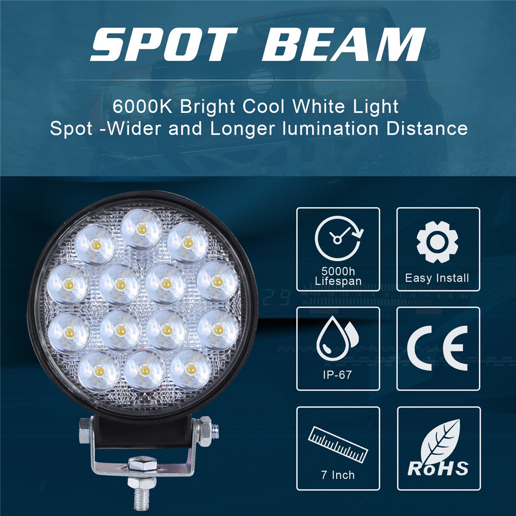 Image 5 - Luces Led Para Auto 2x LED Work Light Pods 4 Inch 140W Round Spot Beam Offroad Driving Light Bar LED Lamps For Cars-in Light Bar/Work Light from Automobiles & Motorcycles