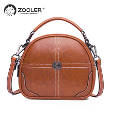 ZOOLER Women's Genuine Leather bag Handbag Shell leather Shoulder Bags small Messenger Bag Women Bags Cow Leather Tote Bag#wp338