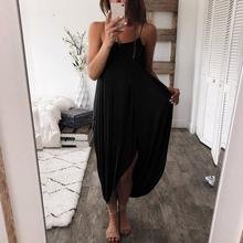 Sleeveless Dress Elegant Holiday Casual Party Beach Women 2019 Summer Loose Straps