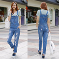 jeans 2017 New Casual Play Jeans Breathable denim quality workwear jeans women,loose casual strap up denim overall womans
