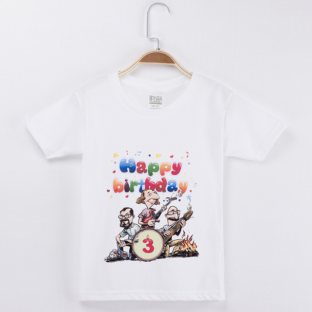 2019 Childrens Birthday T Shirt Designs Rock And Roll Fashion 100 Cotton Cheap But Cute Baby Boy Clothes Kids Girl Tops Types
