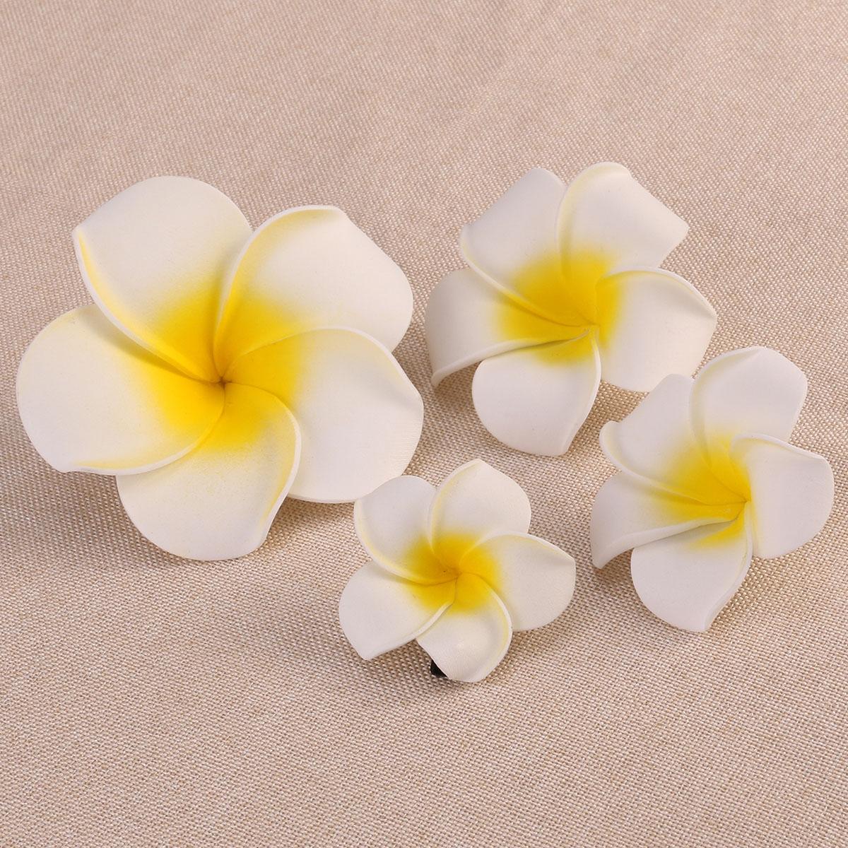 Nicexmas 4pcs Hawaiian Flowers Hair Clips Barrette Tropical Wedding