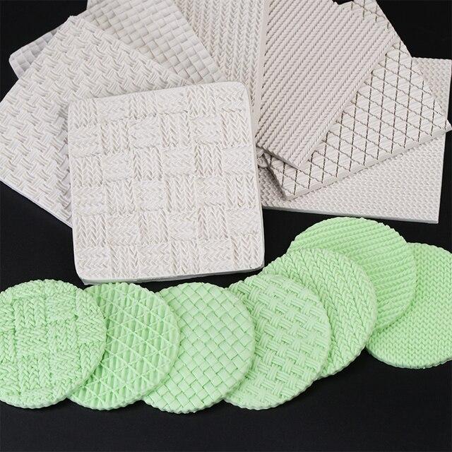Yueyue Sugarcraft di lavoro a maglia della torta del silicone della muffa bambin