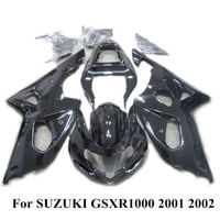 Free&Fast Shipping ABS Plastic Injection Glossy Gloss Black Painted Fairing kit Bodywork For SUZUKI GSXR 1000 2001 2002 K1 01 02