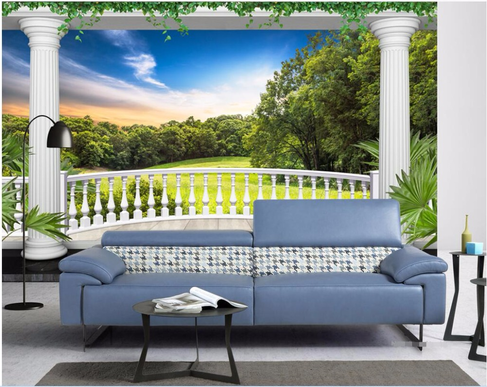 Wall Murals Cheap online get cheap wall murals forest balcony -aliexpress