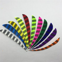 50 Pcs 4 Right Wing Drop Shape Feather Hunting Arrow Accessories With Feather Arrow And Arrow