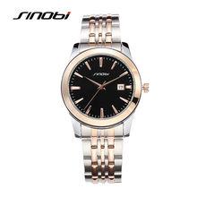 Homens SINOBI Relógios de Pulso Casual 5Bar À Prova D' Água Pulseira de Ouro Marca de Luxo Masculino Relógio de Genebra Quartzo Erkek Saatler 2017 L29