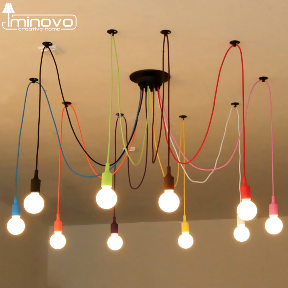 Iminovo Pendant Lights vintage Lamp Simple Style For Dining Room /Living Room/Parlor/Hotel Hall/Hotel Room Decoration Lamp E27 H r54 hotel room